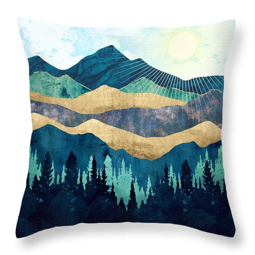 Blue Forest Throw Pillow For Sale By Spacefrog Designs