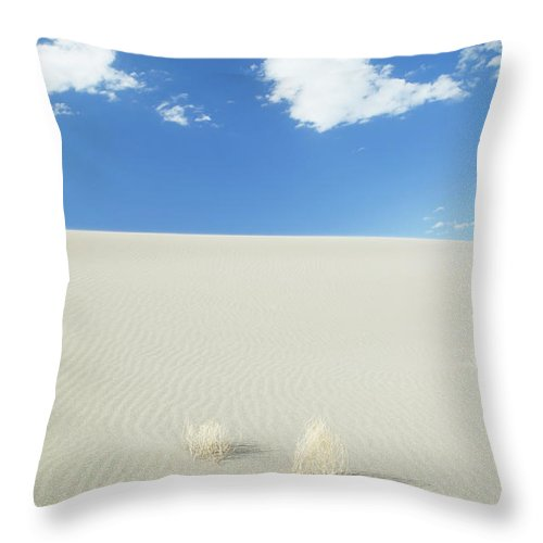 Sand Dune Throw Pillow featuring the photograph Blue Sky Over Sand Dune by Bryan Mullennix