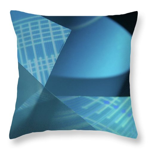 Curve Throw Pillow featuring the photograph Blueprint by Penfold