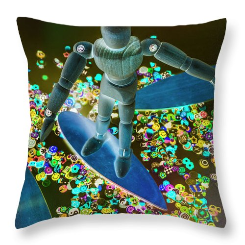Boarder Throw Pillow featuring the photograph Bordering by Jorgo Photography - Wall Art Gallery
