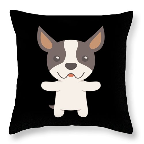 Best-dog-gift Throw Pillow featuring the digital art Boston Terrier Gift Idea by DogBoo