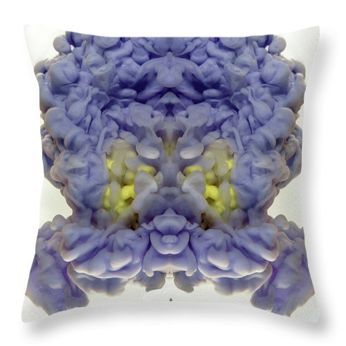 Abstract Throw Pillow featuring the photograph Brain Waves Abstract Art by Eugene Campbell