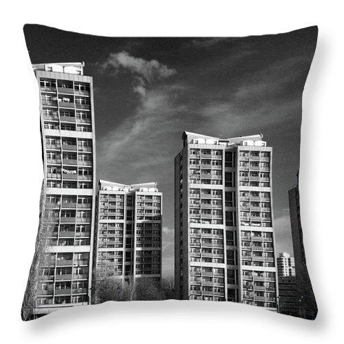 Apartment Throw Pillow featuring the photograph Brandon Estate by Gary Kinsman