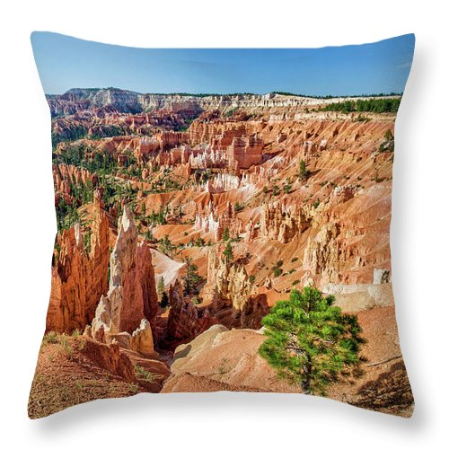 Bryce Canyon Throw Pillow featuring the photograph Bryce Canyon Sunrise Point by Delphimages Photo Creations