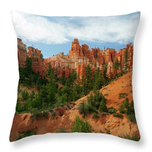 Scenics Throw Pillow featuring the photograph Bryce Canyon by Wsfurlan
