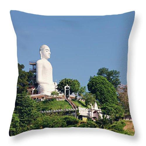 Buddha Statue Sri Lanka Kandy Throw Pillow For Sale By Hadynyah