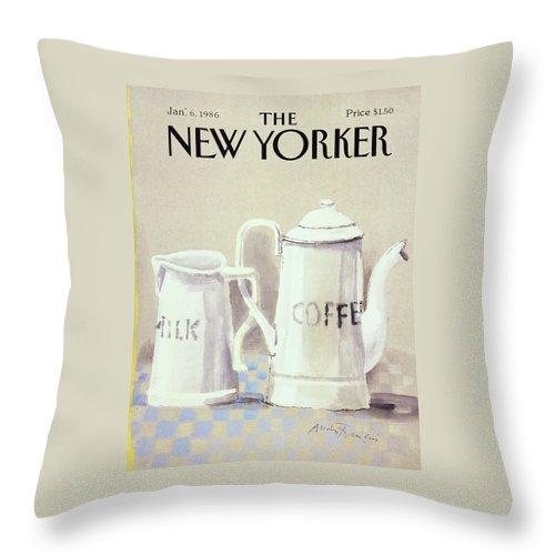 Cafe au Lait Throw Pillow