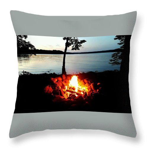 Throw Pillow featuring the photograph Campfire by Zach Meyer