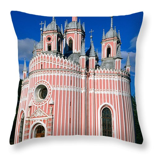 Gothic Style Throw Pillow featuring the photograph Candy Stripes Of Chesma Church, St by Lonely Planet