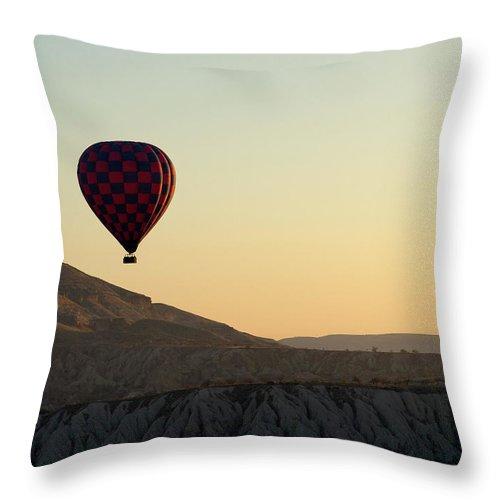 Scenics Throw Pillow featuring the photograph Cappadocia Valley by Julian Kaesler