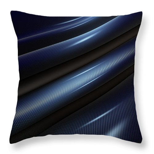 Material Throw Pillow featuring the photograph Carbon Fiber by Ilexx