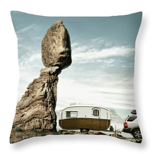 Camping Throw Pillow featuring the photograph Careless Camping by Colin Anderson