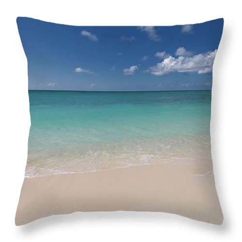 Cayman Islands Throw Pillow featuring the photograph Caribbean Paradise - Beach by Dragansaponjic