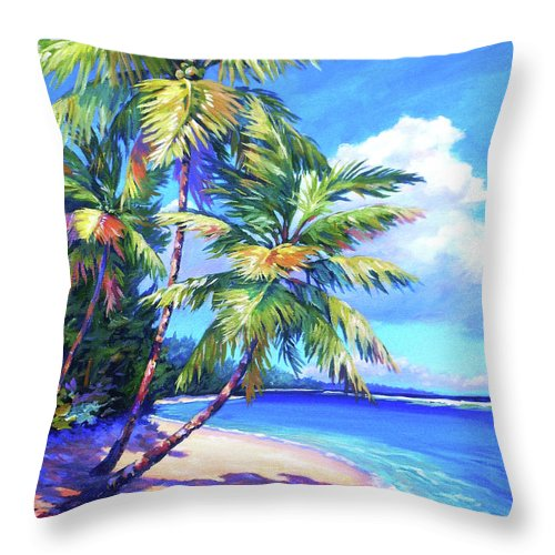 Art Throw Pillow featuring the painting Caribbean Paradise by John Clark