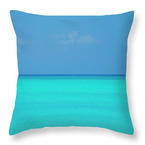 Sailboat Throw Pillow featuring the photograph Caribbean, Turks And Caicos Islands by Medioimages/photodisc