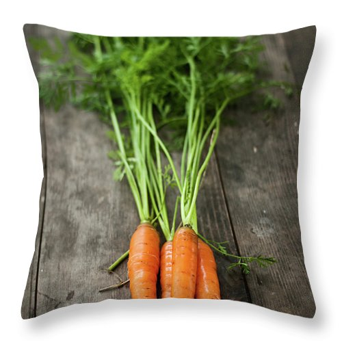 Bulgaria Throw Pillow featuring the photograph Carrot by Kemi H Photography