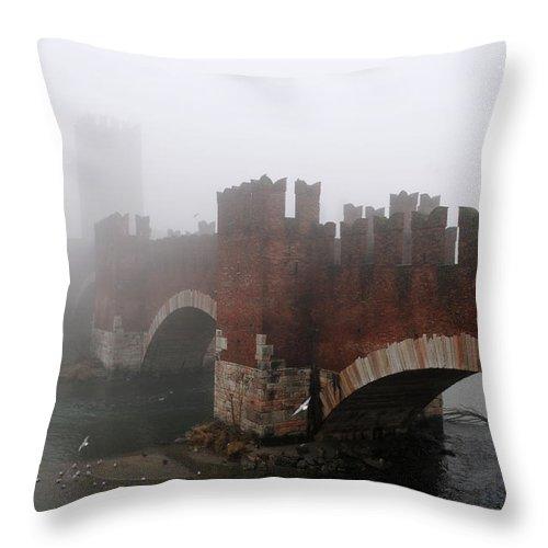 Arch Throw Pillow featuring the photograph Castelvecchio Bridge by Stefano Zuliani Photo