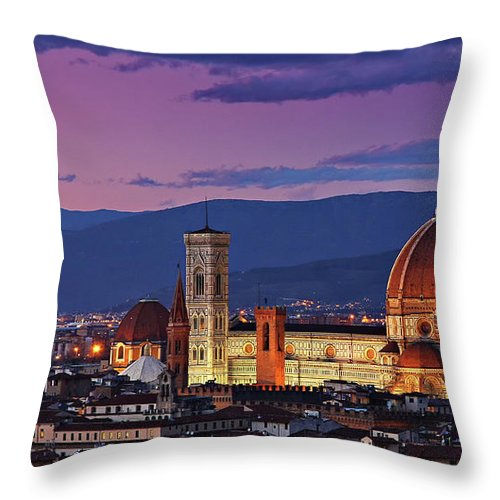 Outdoors Throw Pillow featuring the photograph Cattedrale Di Santa Maria Del Fiore - by Www.matteorinaldi.it