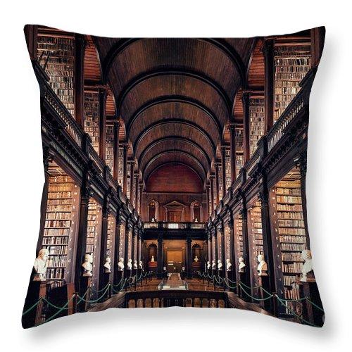 Kremsdorf Throw Pillow featuring the photograph Chamber Of Eternal Wisdom by Evelina Kremsdorf