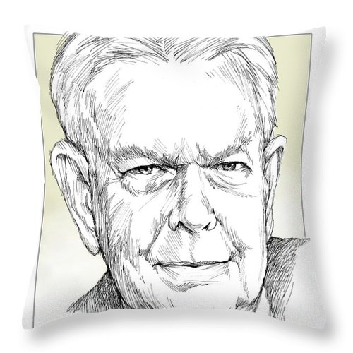 History Throw Pillow featuring the drawing Charles Hamilton by Greg Joens