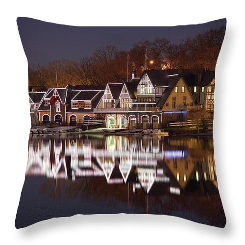 Holiday Throw Pillow featuring the photograph Christmas Lights by Denistangneyjr