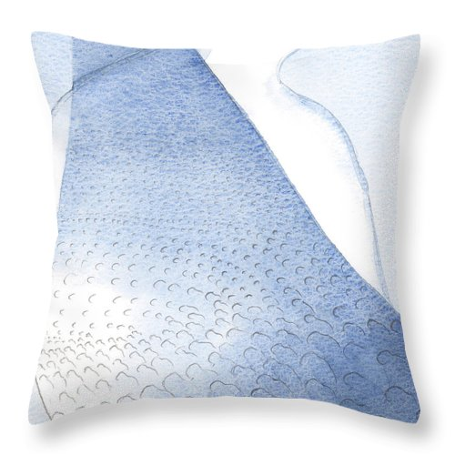 Light Throw Pillow featuring the painting Christs Light And Radiance Are Poured Unto Our Hearts by Elizabeth Wang