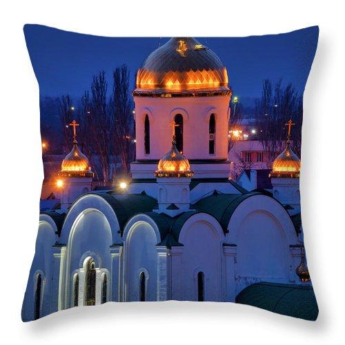 Church Throw Pillow featuring the photograph Church Of The Nativity by Fabrizio Troiani