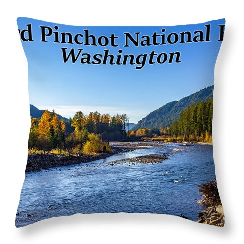 Cispus River Throw Pillow featuring the photograph Cispus River In The Gifford Pinchot National Forest, Washington State by G Matthew Laughton