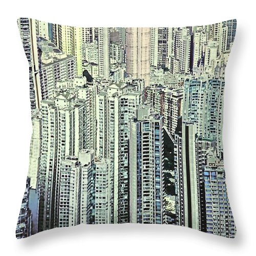 City Throw Pillow featuring the photograph City by Gillis Cone