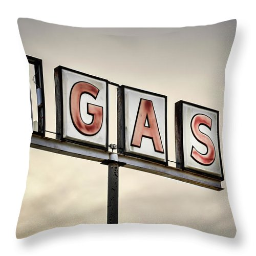 Non-urban Scene Throw Pillow featuring the photograph Classic Americana Route 66 Abandoned by Elementalimaging