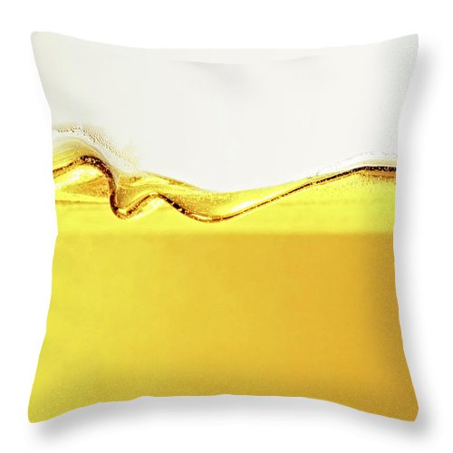 Motion Throw Pillow featuring the photograph Close Up Of Oil In Glass by Cwp