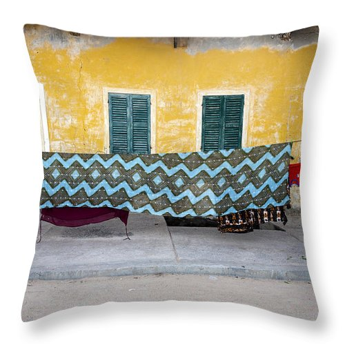 Hanging Throw Pillow featuring the photograph Clothes Hanging by Roripalazzo.com