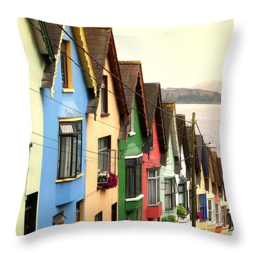Electricity Pylon Throw Pillow featuring the photograph Cobh, Cork by Photo By Natale Carioni