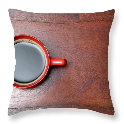 Motivation Throw Pillow featuring the photograph Coffee Chill Out by Fotografiabasica