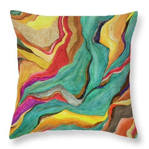 Art Throw Pillow featuring the digital art Colors Of Humanity Series by Marthadavies