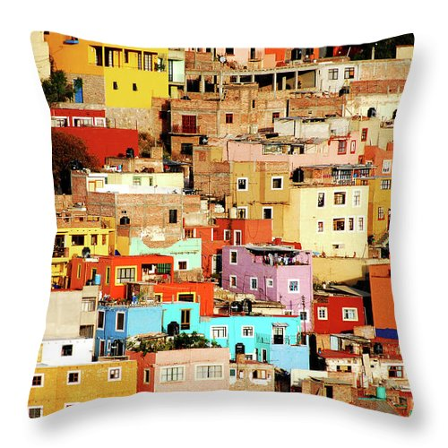 Tranquility Throw Pillow featuring the photograph Colors On Hill by Nan Zhong