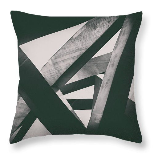 Shadow Throw Pillow featuring the photograph Concrete Pillars by Lordrunar