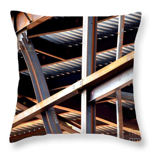 Construction Throw Pillow featuring the photograph Construction Abstract Fragments by Guntis Lauzums