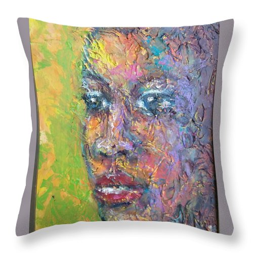 Throw Pillow featuring the painting Contemplation by Jan Gilmore
