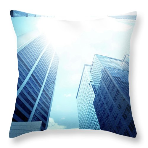 Chinese Culture Throw Pillow featuring the photograph Contemporary Office Building by Ithinksky