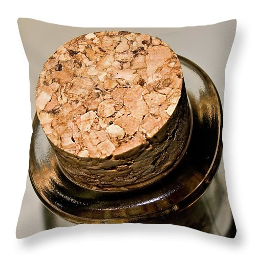 Alcohol Throw Pillow featuring the photograph Cork by Losrodri