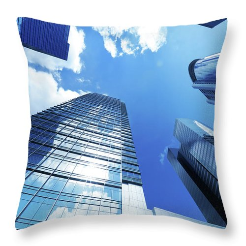 Corporate Business Throw Pillow featuring the photograph Corporate Building by Samxmeg