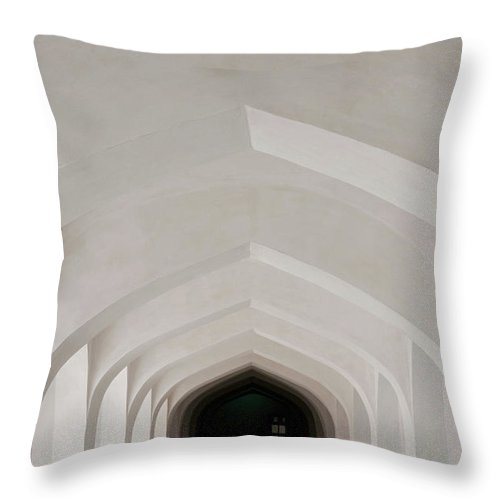 Tranquility Throw Pillow featuring the photograph Corridor In Amer Fort, Rajasthan, India by Cultura Exclusive/karen Fox
