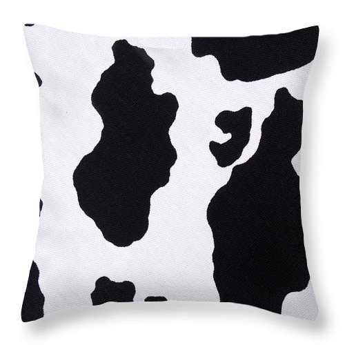 Animal Skin Throw Pillow featuring the photograph Cow Background by Schulteproductions