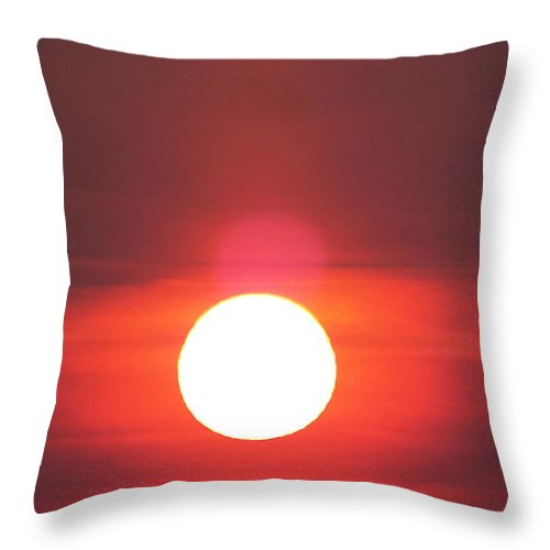 Throw Pillow featuring the photograph Crimson Sun by James Harris