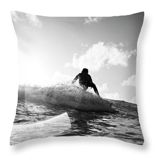 Three Quarter Length Throw Pillow featuring the photograph Crouching by Mark Leary