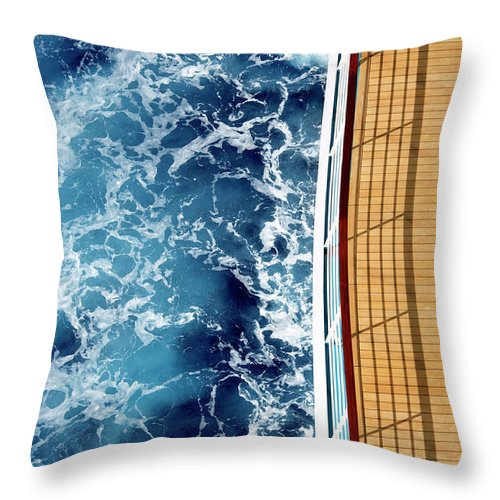 Shadow Throw Pillow featuring the photograph Cruise Ship And Ocean by David Sacks