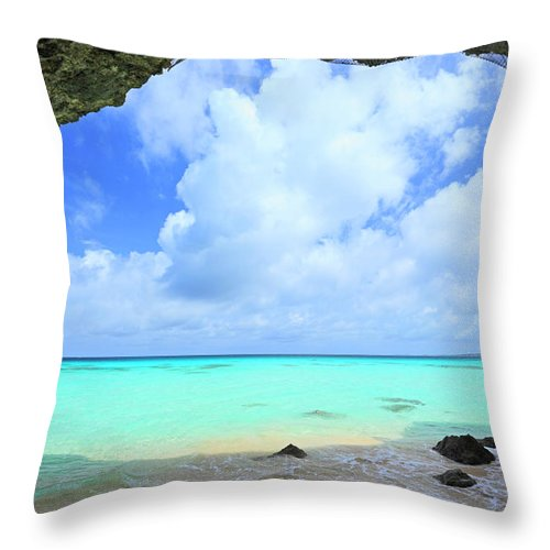 Crystal Clear Water Beach With Natural Throw Pillow For Sale By Imagewerks