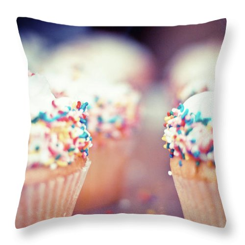 Unhealthy Eating Throw Pillow featuring the photograph Cupcakes by Carmen Moreno Photography