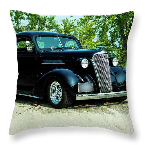 1937 Throw Pillow featuring the photograph Custom 1937 Chevrolet Coupe by Performance Image